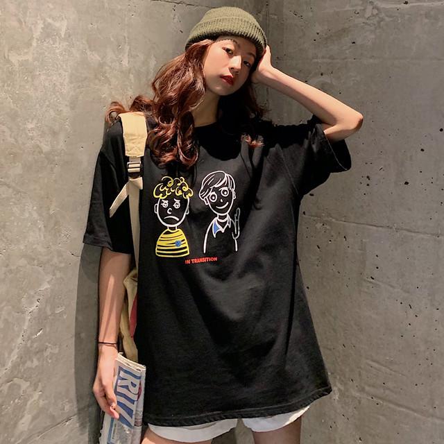 【トップス】シンプル半袖ラウンドネックプルオーバーTシャツ44858862