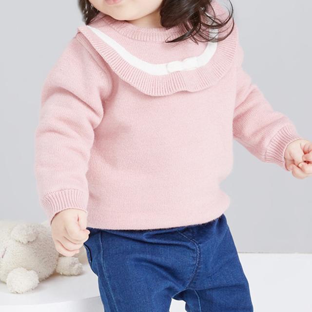 【ベビー〜キッズ】襟が可愛いセーター[HT1911-2]