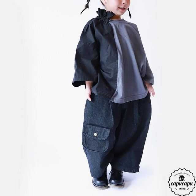 «予約»«Jr.サイズ» dressmonster Dungaree denim pants 2colors JS JM JL
