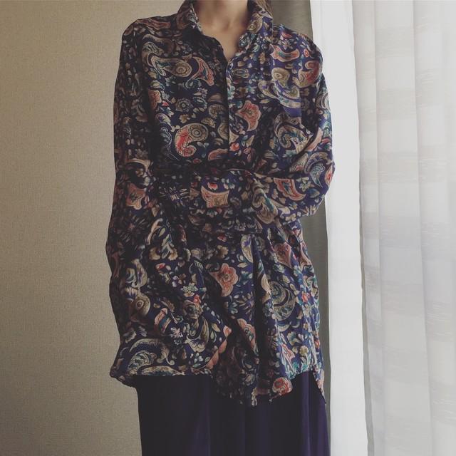 vintage silk design shirts