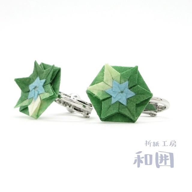 花たとうのイヤリング(小)[本ロジウム]【006】