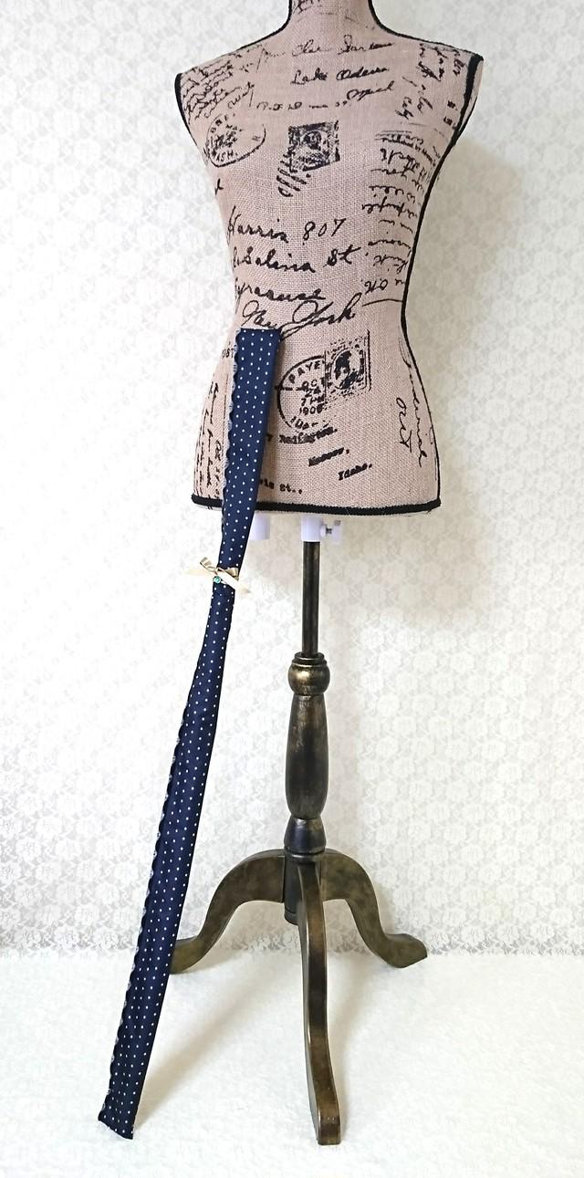 スティック型撥水アサヤケース【黒ドット × 金リボン】★送料無料★