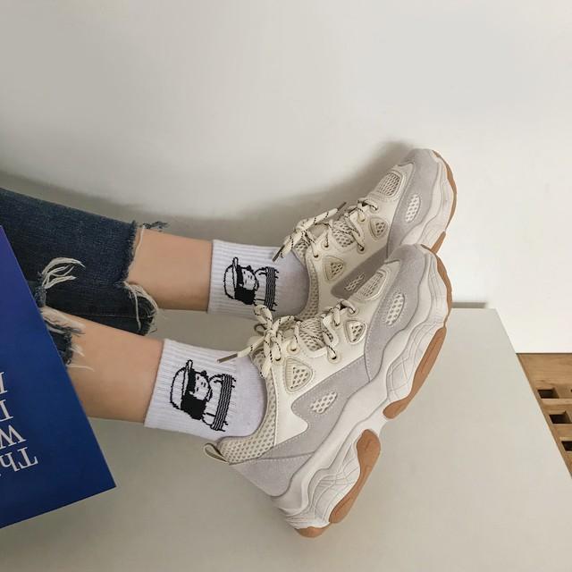 mesh dad sneakers