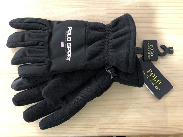 POLO RALPH LAUREN POLO SPORT FLEECE TOUCH GLOVES (BLACK)