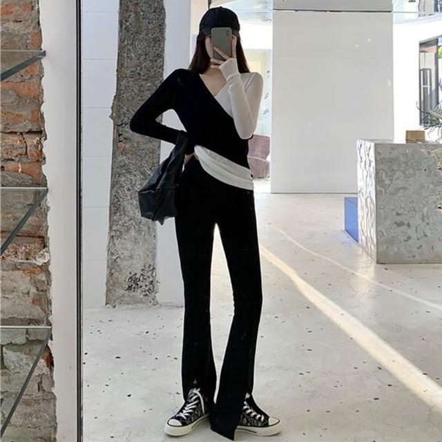 【セットアップ】「単品注文」ファッション配色パーカー+カジュアル無地カジュアルパンツ34312468