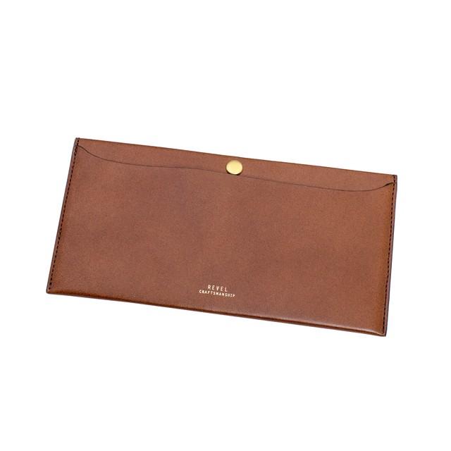 極薄長財布 - L.WALLETキャメル