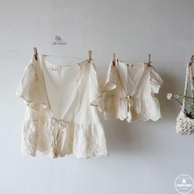 «sold out»«ママサイズ» Punching lace bolero パンチングレース ボレロ