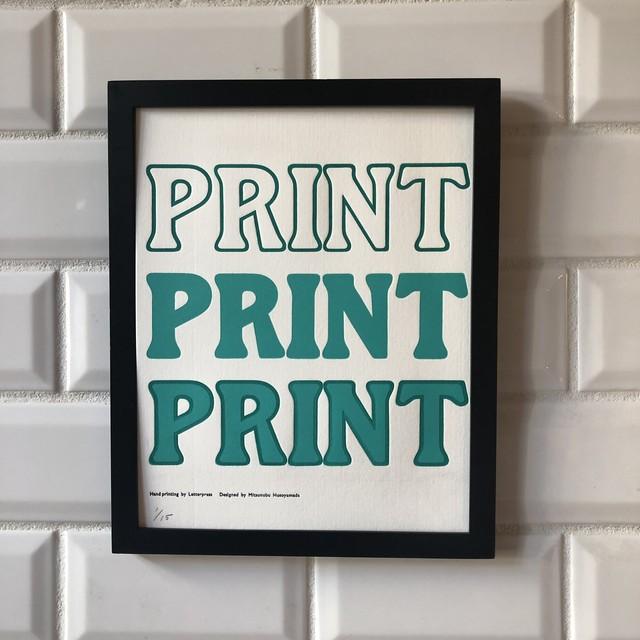 ポスター PRINT PRINT PRINT