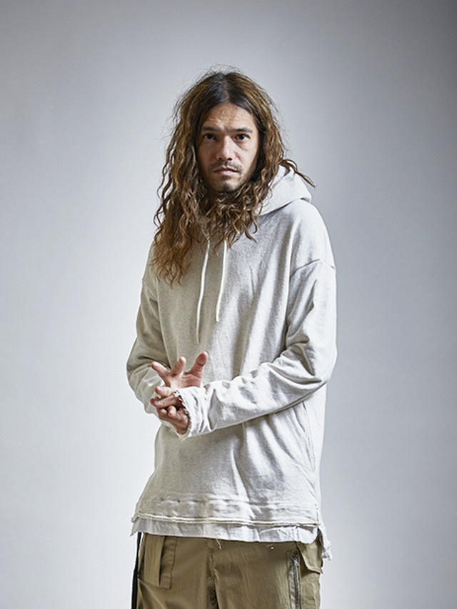 EGO TRIPPING (エゴトリッピング) LAYERED HOODED SWEAT / moku.IVORY 663357-01