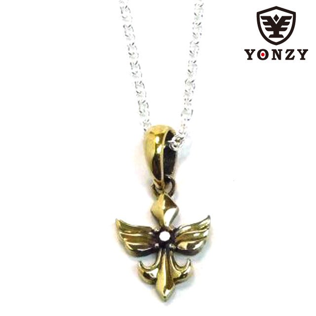 YONZY Phoenix Neckless Brass small ブラックスピネル