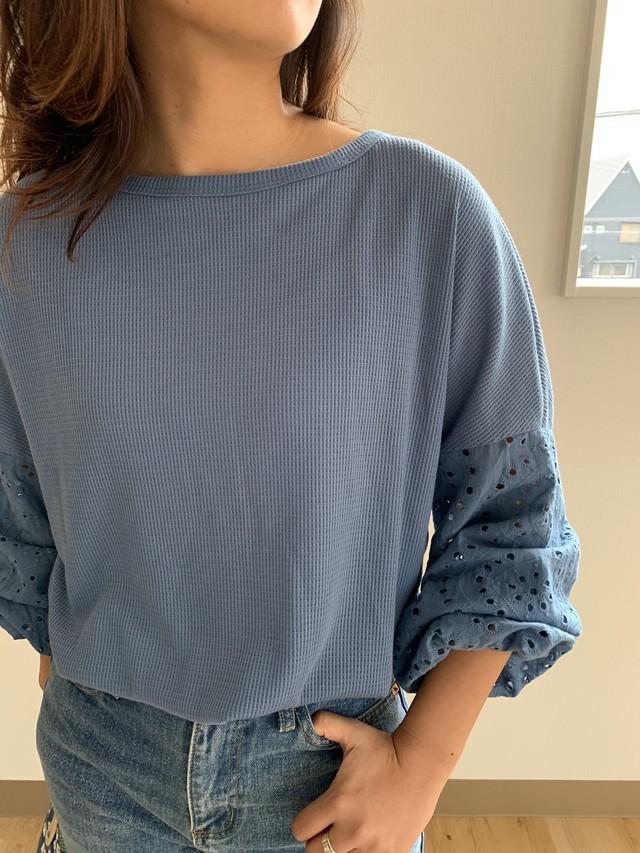 パフ袖ロンT *blue*