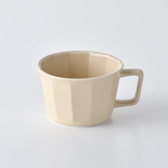 面取スープカップ・ベージュ
