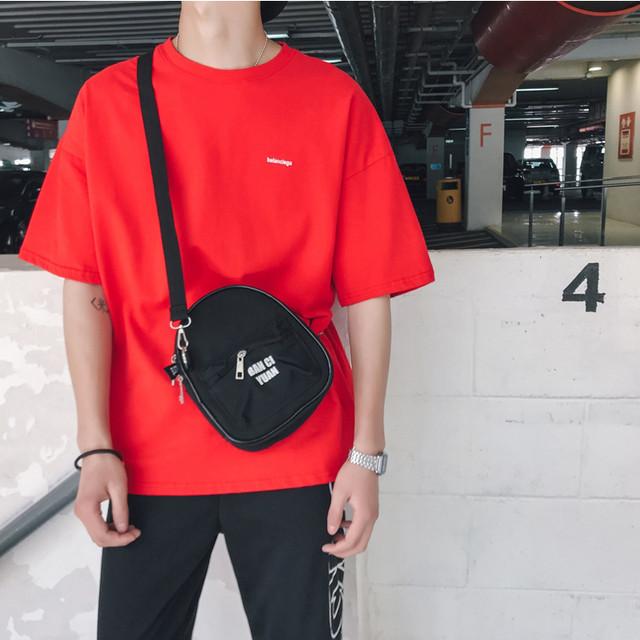 ビビッドカラー・ワンポイントロゴ半袖Tシャツ