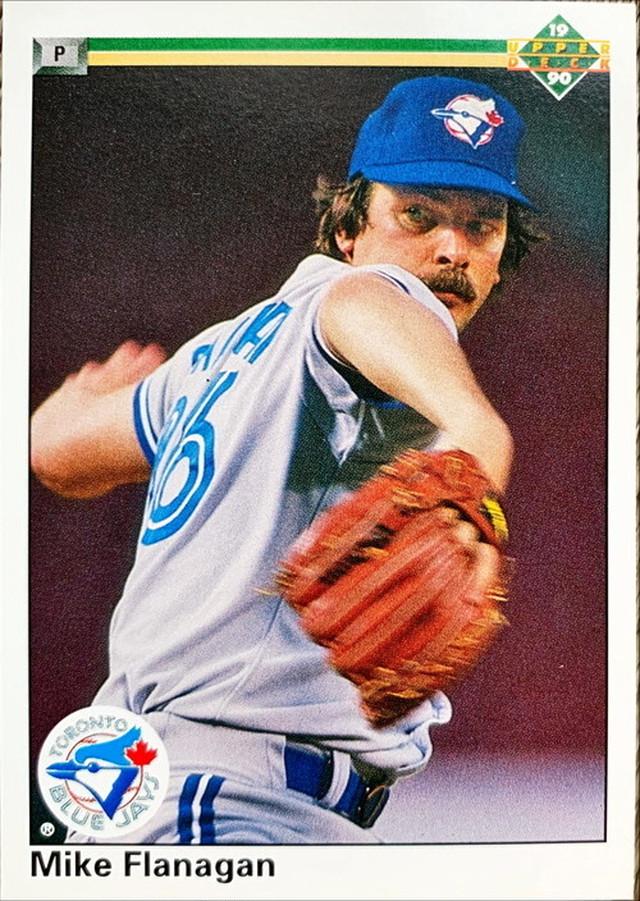 MLBカード 90UPPERDECK Mike Flanagan #483 BLUEJAYS