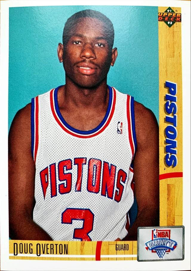 NBAカード 91-92UPPERDECK Doug Overton #20 PISTONS