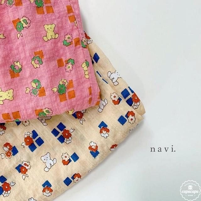 «予約» bear pants 2colors くまのジョガーパンツ