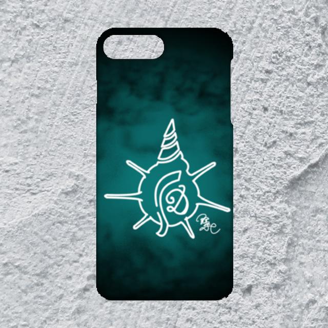 【iPhone8plus/7plus対応】D-Logoクリアブルーハードケース}