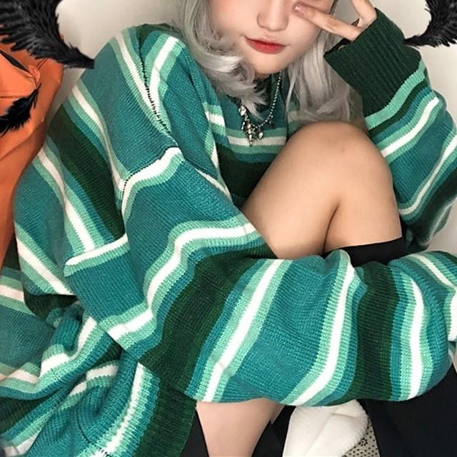 BIGストライプセーター / HWG017