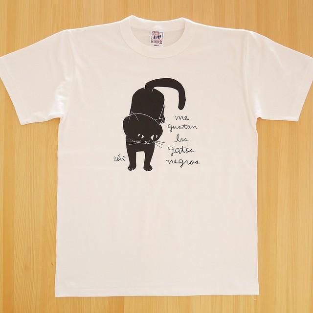 Tシャツ「黒猫」ナチュラル