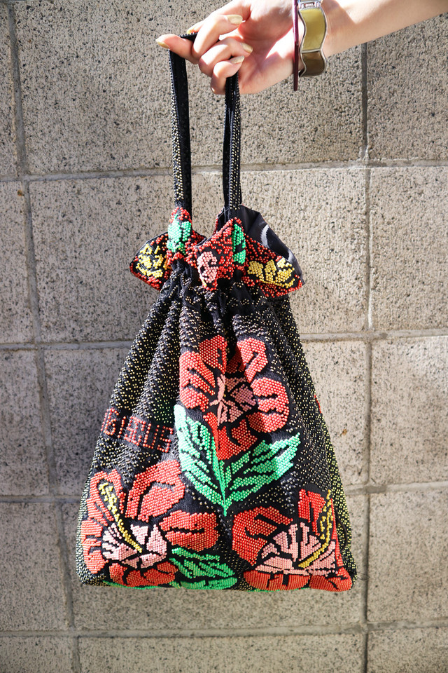Native pattern beads bag