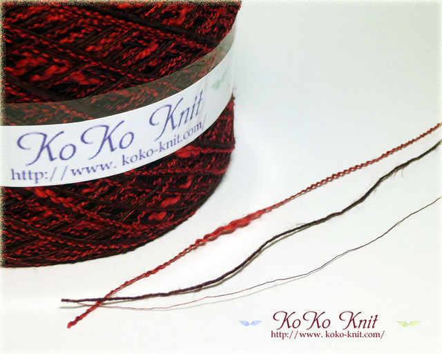 §koko§ 夏祭り~秘めた想い~1玉79~88g 麻、引き揃え糸、毛糸  オリジナル編み糸(005)