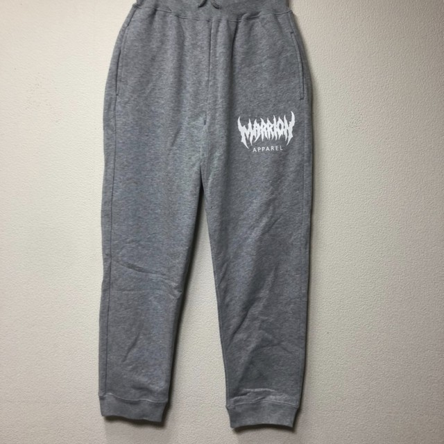 【裏パイル】MARRION APPAREL LOGO PANTS (Heather gray×White)