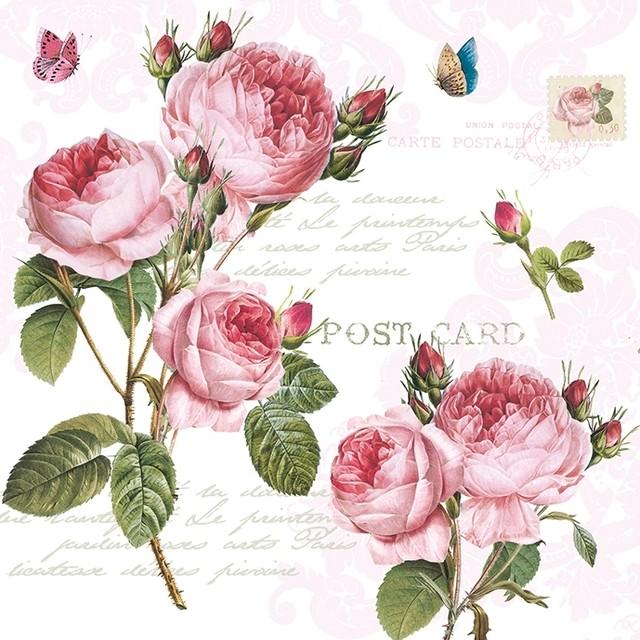 【Easy Life】バラ売り2枚 ランチサイズ ペーパーナプキン ROMANTIC ROSES ローズ