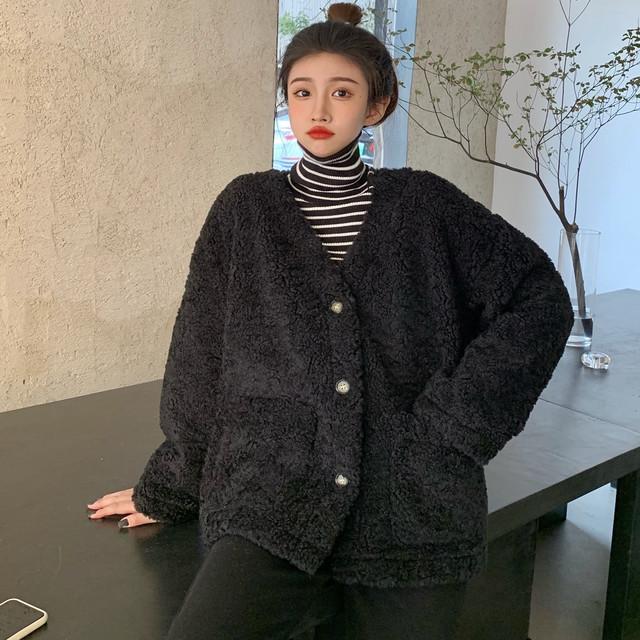 【アウター】韓国系膝上長袖無地ファッションジャケット36437281