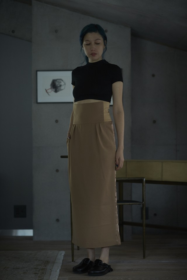 【予約販売】HIGH WAIST SKIRT -  CAMEL