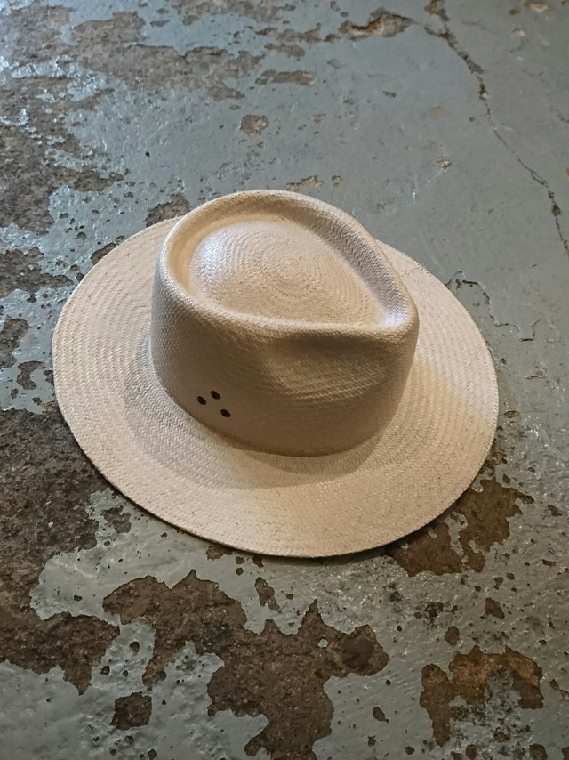 "NEXUS Ⅶ "" TROPICAL ARMY PANAMA HAT"" Natural White Color"