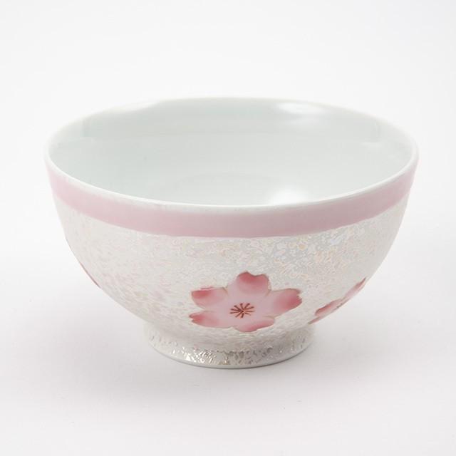 虹彩桜  ご飯茶碗