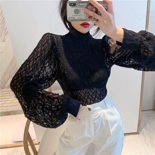 デニムシャツセットクロスニット ニット レイヤード  韓国ファッション