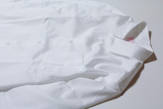 "EACHTIME.  ""Cotton Satin Round Collar Shirt""    White・Gray・Pink"