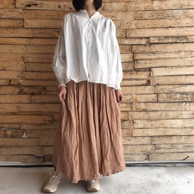 ichi Antiquite's スモークカラーリネンスカート ベージュ