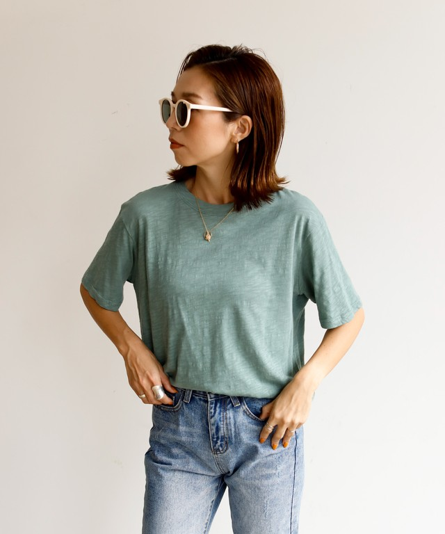 ベーシックスラブクルーTシャツ (AHYHS0619004)