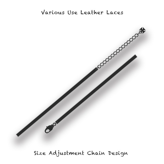 Various Use Leather Laces / Size Adjustment Chain Design