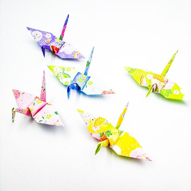 【特別記念価格】柔らかな陽のもとで。ふんわりパステルの折り鶴(神前式、和装婚折り鶴シャワー演出・和風撮影小物)100羽入り