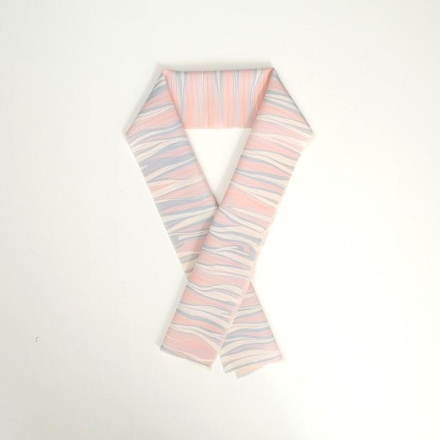 桜 貝 の 絹 絽 半 衿
