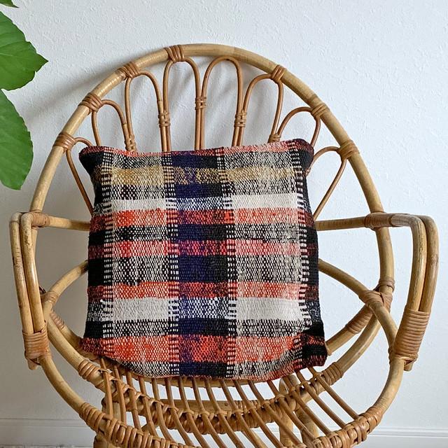 手織り キリム クッション 小 C013