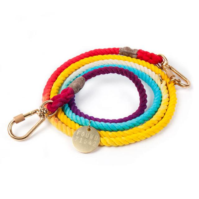 FOUND MY ANIMAL-NAVY ROPE DOG LEASH, ADJUSTABLE (ファウンドマイアニマル・ネイビー・ロープ・ドッグ・リーシュ・アジャスタブル/サイズS)