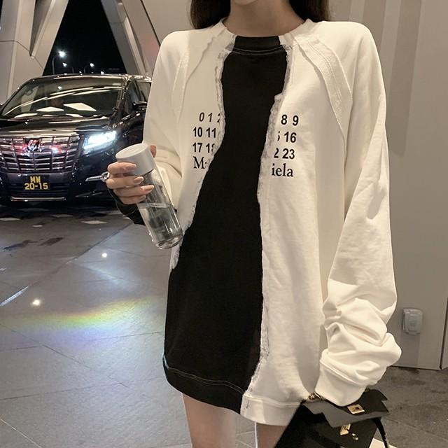 【tops】アルファベット丸ネック大流行合わせやすいTシャツ 23808770