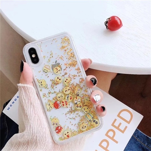 流れる♪ face glitte iphone case