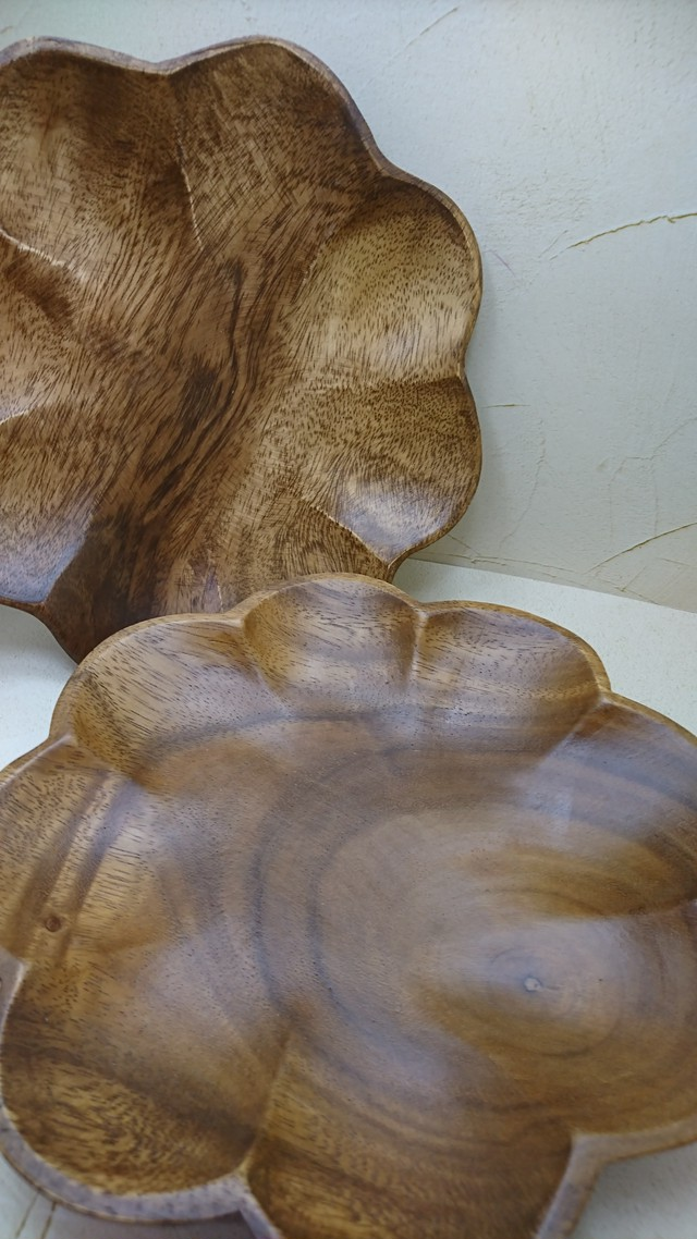 【SP174】  WOOD PLATE ・FLOWER(M)