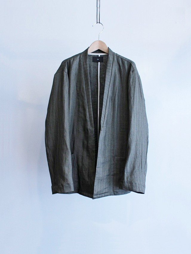 Garage.U.W Exclusive Reciprocity HERRING BONE LINEN NC JACKET