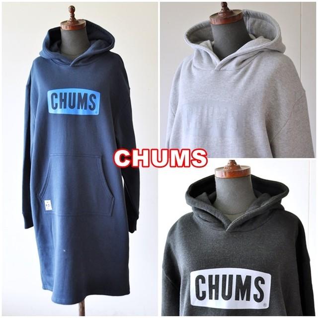 チャムスロゴパーカードレス(ワンピース)CHUMS  スウェット ワンピ スウェットパーカーワンピース 女性 CH18-1115
