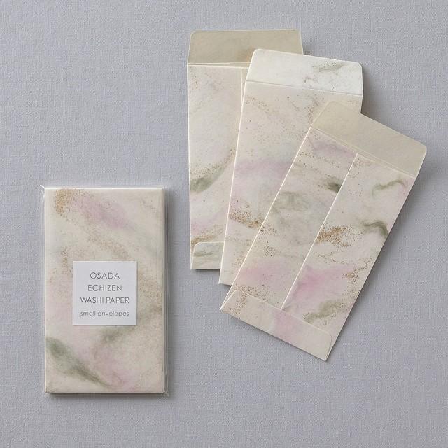 PC05 襖紙ぽち袋 ゴールド&ピンク 3枚入