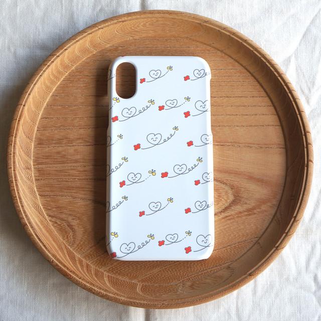 【iPhone / Android】側表面印刷*ハード型*スマホケース「ハートニコちゃん」● 受注生産
