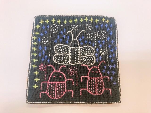 レンテン族 刺繍コースター むし