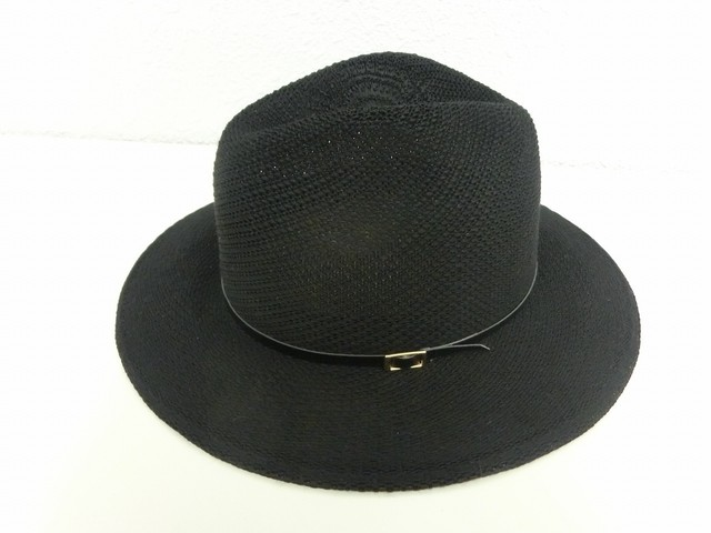 Belted design Hat / Black