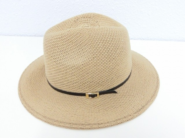 Belted design Hat / Brown